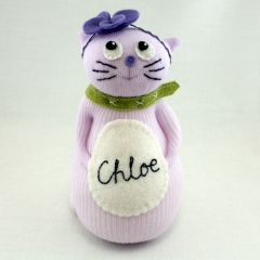 Sewinthemoment Sock Dolls Chloe the cat
