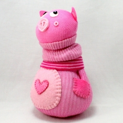 Sewinthemoment Sock Dolls Penelope the pig