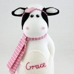 Sewinthemoment Sock Dolls Grace the Cow