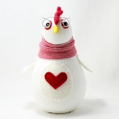Sewinthemoment Sock Dolls Sheila the clever chook.