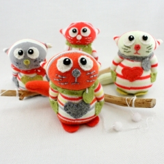 Sewinthemoment Sock Dolls Cat Mobile