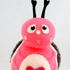 Sewinthemoment Sock Dolls PInk the cuddle bug