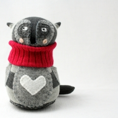 Sewinthemoment Sock Dolls Raccoon Love