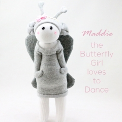 Sewinthemoment Sock Dolls Maddie the Butterlfly Girl