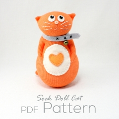 Sewinthemoment Sock Dolls Cat Pattern Cover Image