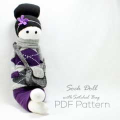 Sewinthemoment Sock Dolls Sock Doll with Satchel Bag Pattern Cover