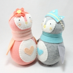 Sewinthemoment Sock Dolls Peach and Alice