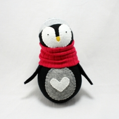 Sewinthemoment Sock Dolls A Penguin named Jude for the Go Shout Love Auction