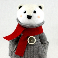 Sewinthemoment Sock Dolls Vintage Polar Bear