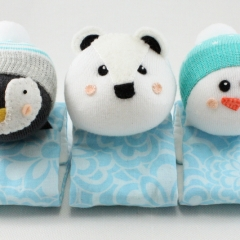 Sewinthemoment Sock Dolls Arctic Friends Pram Buddies