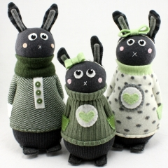 Sewinthemoment Sock Dolls Bunny Family