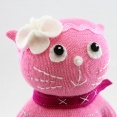 Sewinthemoment Sock Dolls Millie the Cat.