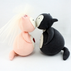 Sewinthemoment Sock Dolls Bride and Groom Wedding Day Foxes