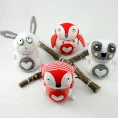 Sewinthemoment Sock Dolls Woodland Creatures Mobile