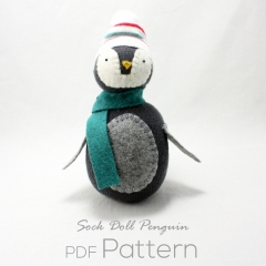Sewinthemoment Sock Dolls Sock Doll Penguin Pattern Cover