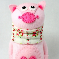 Sewinthemoment Sock Dolls Amity the pig